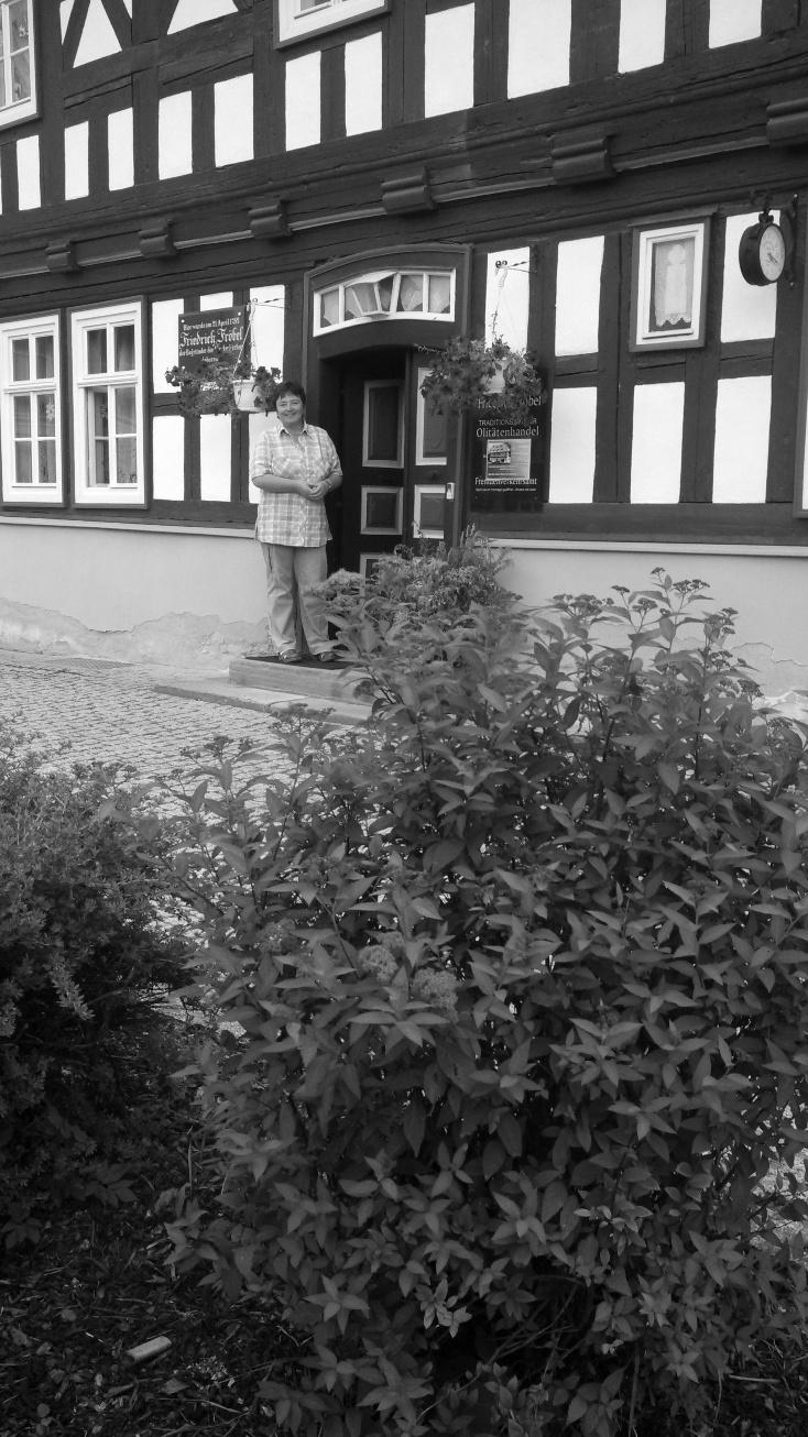 Froebel Spirea in front of the Froebelhaus in Oberweissbach