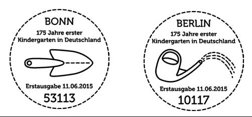 German-Post-Stamp-Deutsche-Post-Philatelie-Deutschland-175-Jahre-erster-Kindergarten-in-Deutschland-Postmark
