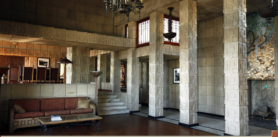 Ennis house froebel decade Frank lloyd wright the rooms interiors and decorative arts